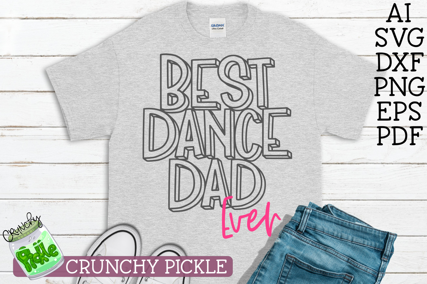 Best Dance Dad Ever Svg By Crunchy Pickle Thehungryjpeg Com