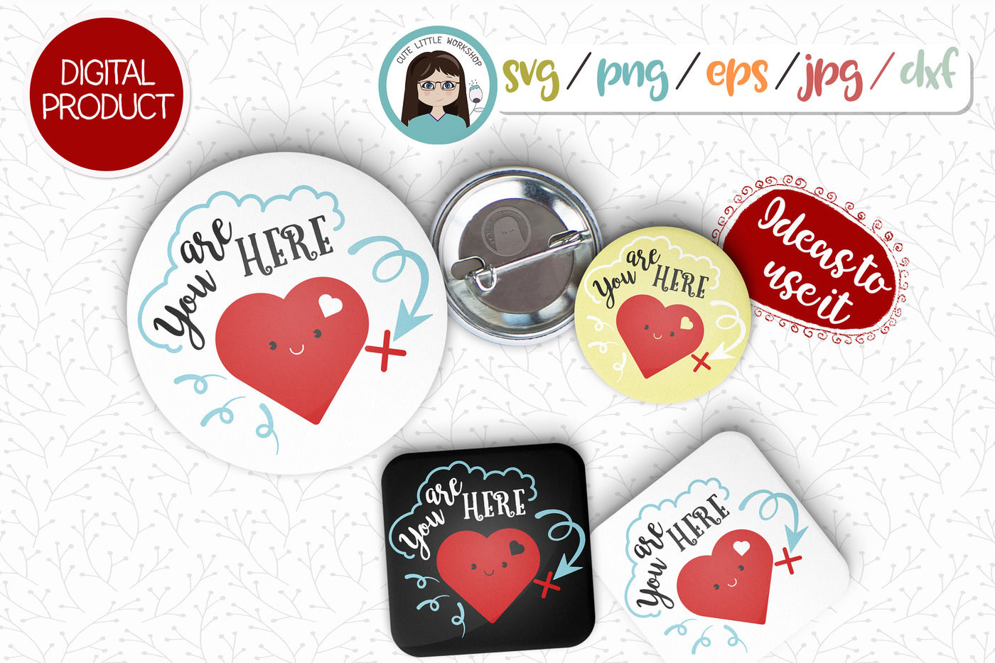 Love Valentines Svg Dxf Png Eps By Cute Little Workshop