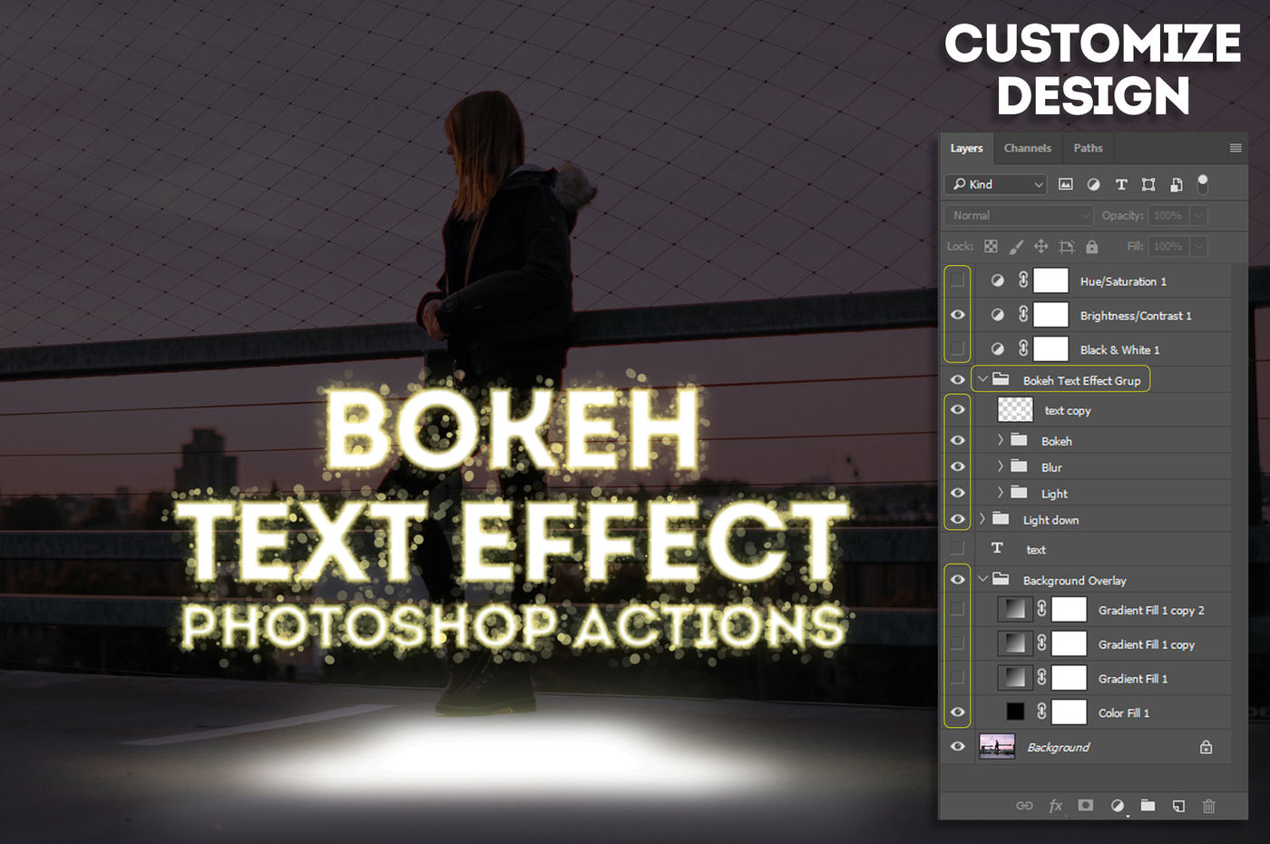 New Year Bokeh Text Effect Action By Yantodesign
