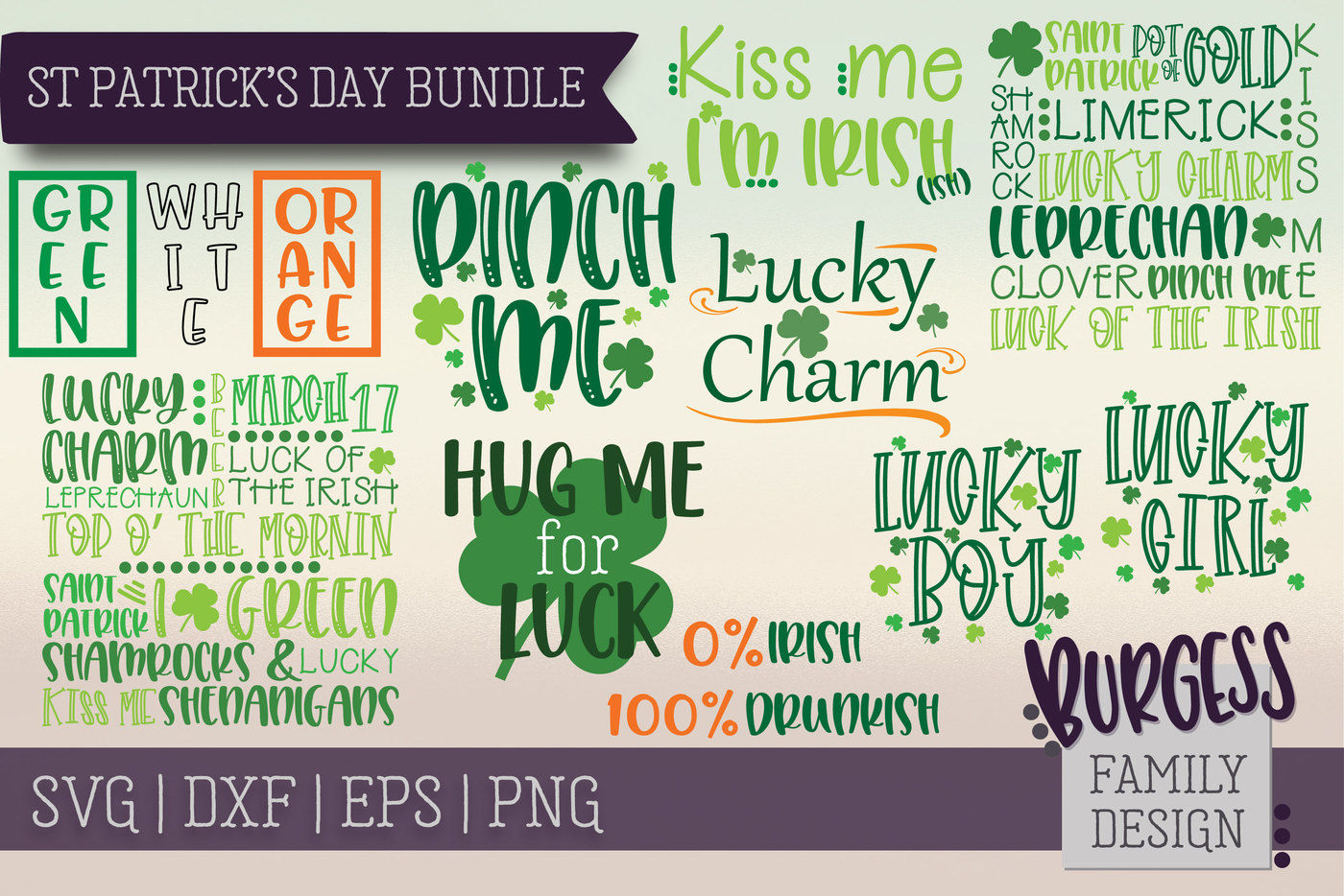 St Patrick S Day Bundle Cut Files By Burgess Family Design