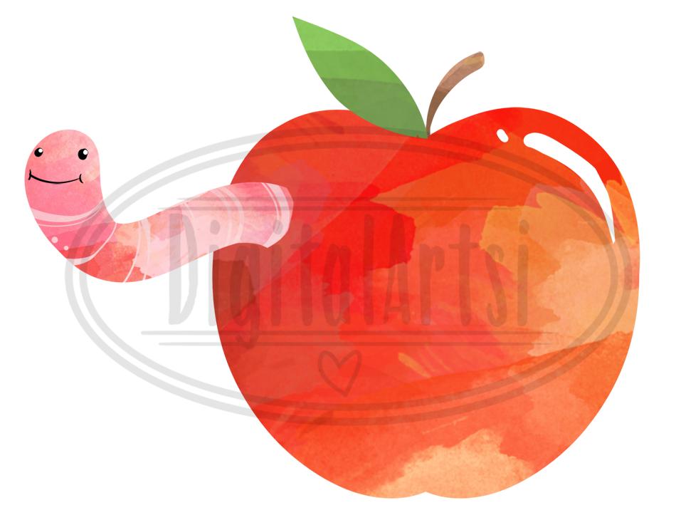 Watercolor Apples Clipart By Digitalartsi   TheHungryJPEG.com (950 x 737 Pixel)