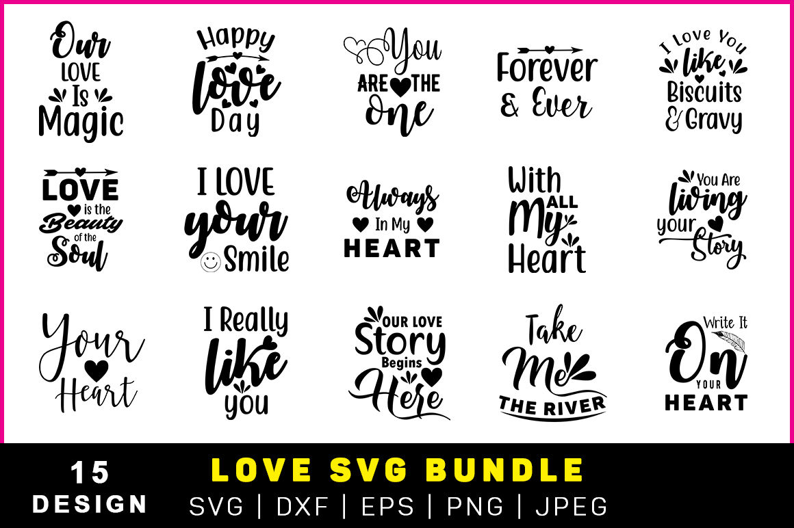 Love Svg Bundle By Teewinkle Thehungryjpeg Com