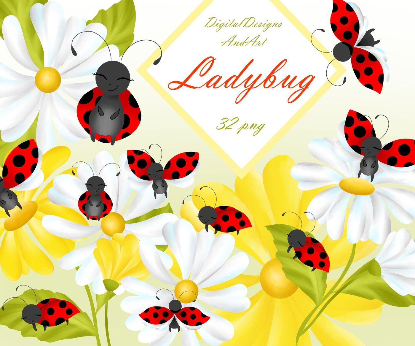 Ladybug Clipart By Digitaldesignsandart Thehungryjpeg Com