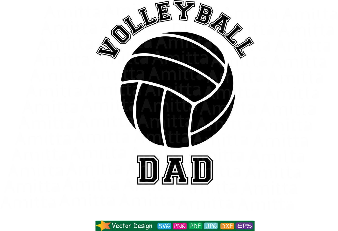 Volleyball Dad Svg By Amittaart Thehungryjpeg Com