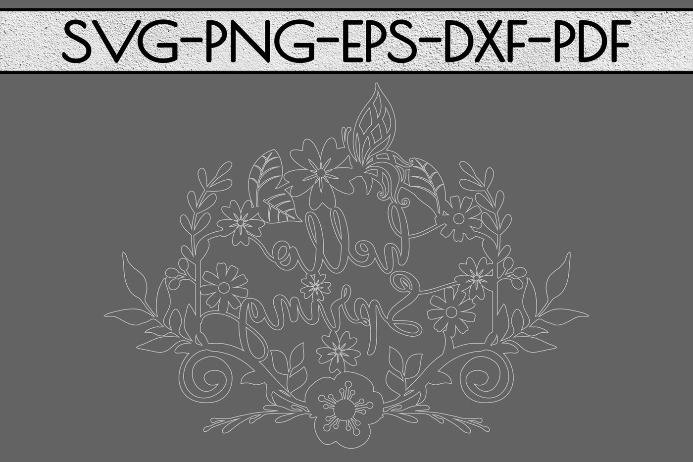 Hello Spring Day Svg Cutting File Flowers Bloom Papercut Dxf Pdf By Mulia Designs Thehungryjpeg Com