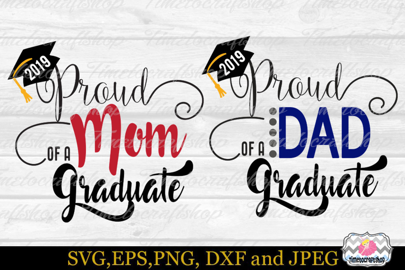 Svg Dxf Eps Png Proud Mom Proud Dad Of A Graduate By