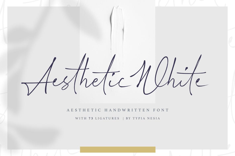 Aesthetic White Handwritten Font By Typia Nesia Thehungryjpeg Com