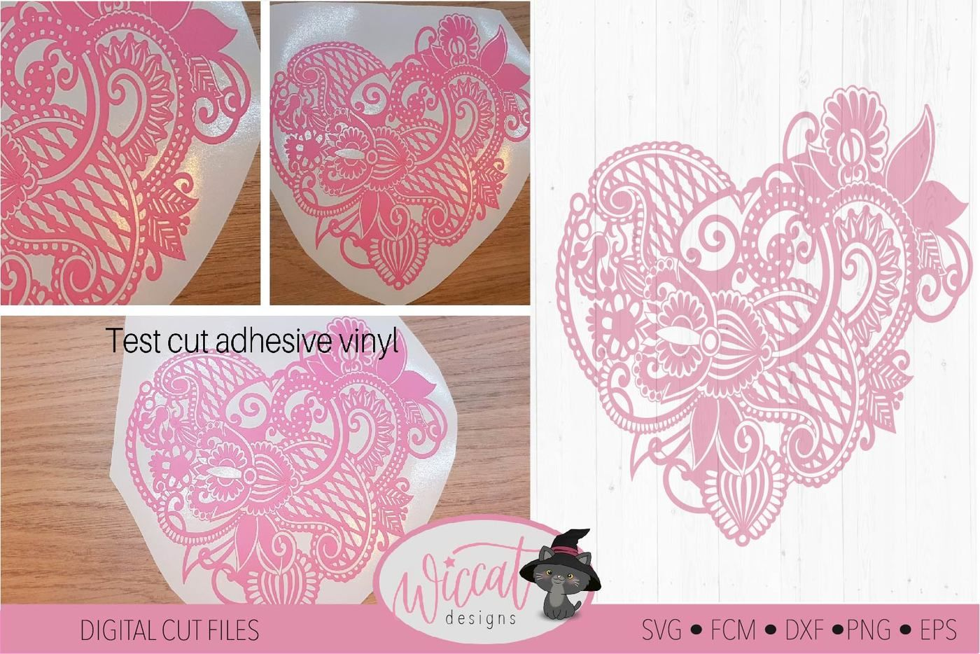 Paisley Heart Valentine Doodle Heart Svg By Wiccatdesigns