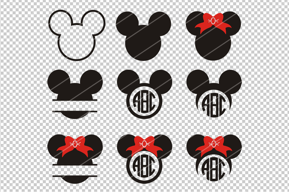 Mickey Mouse Svg Files Mickey Mouse Cut Files Cricut Silhouette