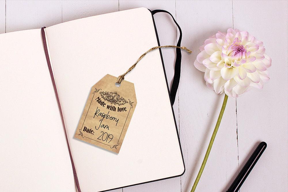 photograph regarding Printable Mason Jar Tags identified as Printable Mason Jar Tags - Basic By way of CraftArtShop