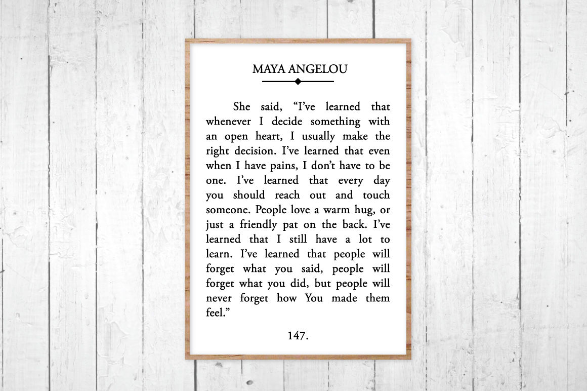 Maya Angelou Book Page Svg Dxf Jpg Eps By Reclaimed Wisdom