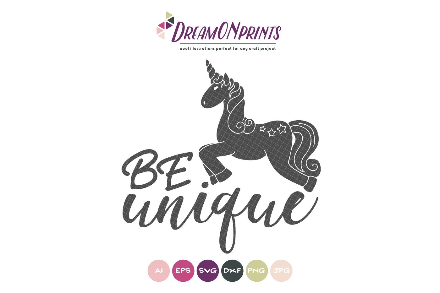 Unicorn Svg Be Unique Svg By Dreamonprints Thehungryjpeg Com