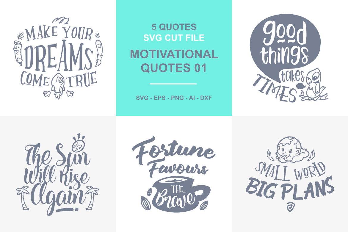 5 Motivational Quotes Svg 01 By Typia Nesia Thehungryjpeg Com