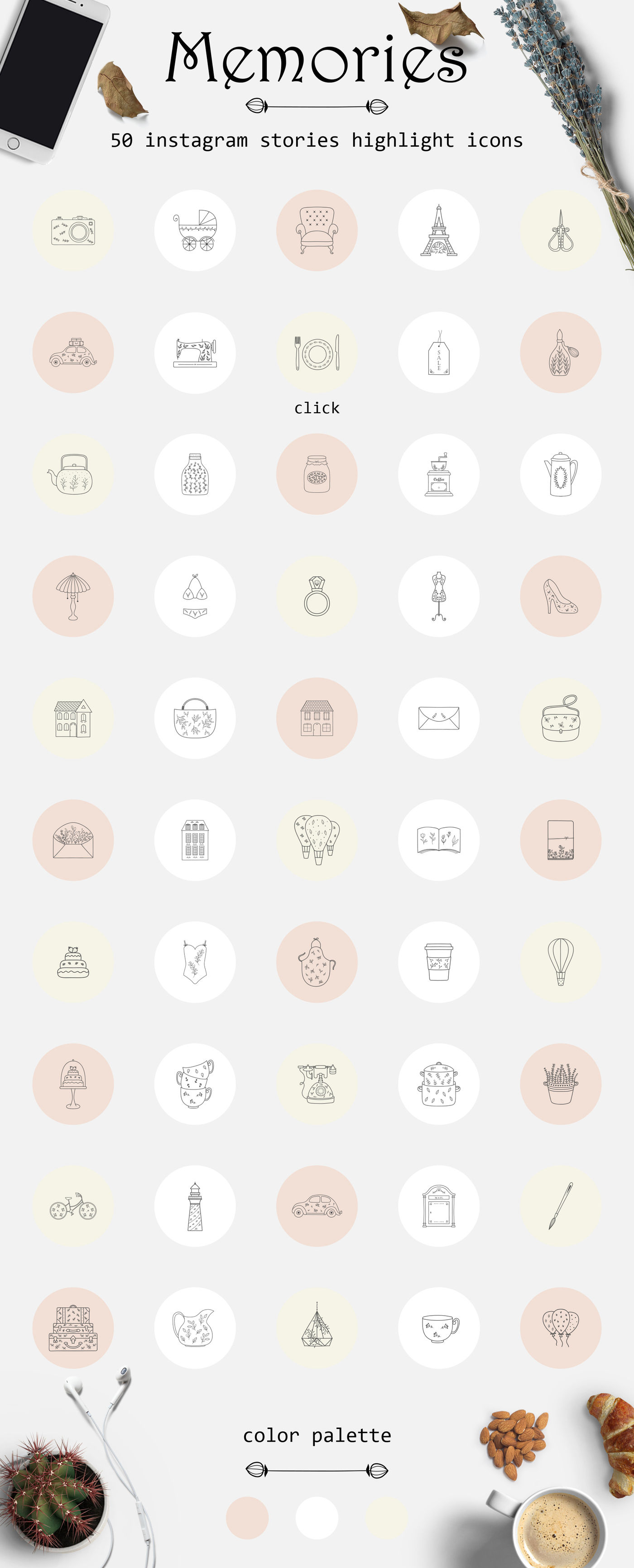 Memories Instagram Stories Highlights Icons By Natalieshop
