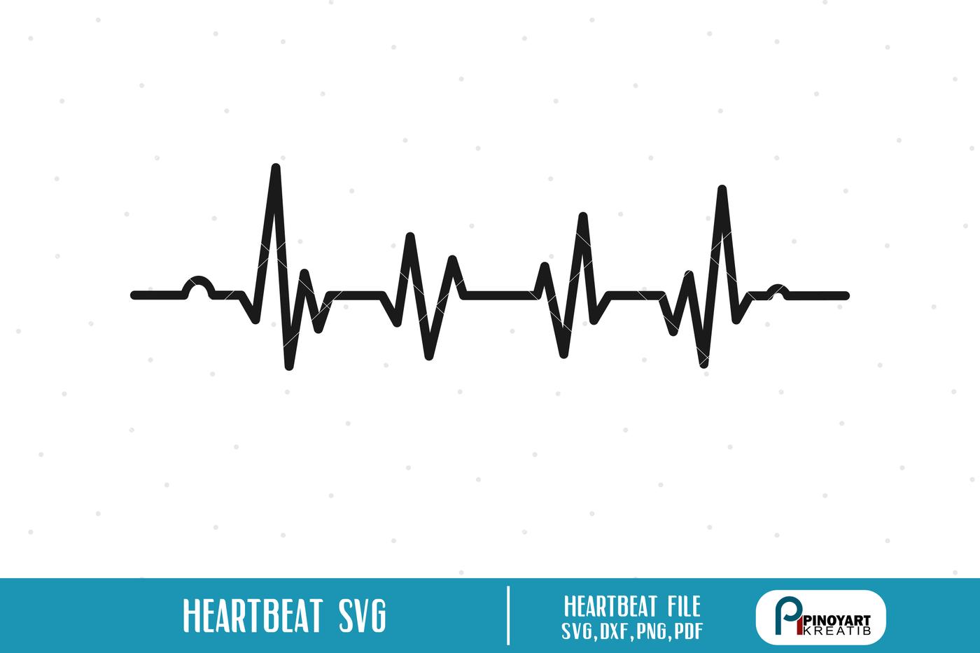 Heartbeat Svg Ekg Svg Ecg Svg Lifeline Svg Heartbeat Clip Art