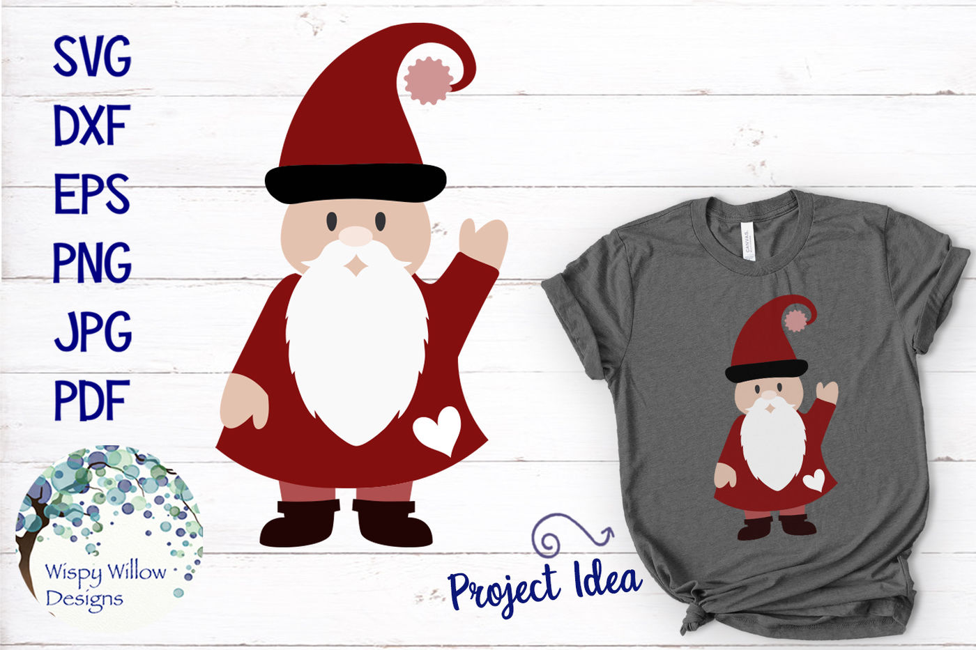 Christmas Gnome Svg.Valentine Gnome Svg And Clipart By Wispy Willow Designs