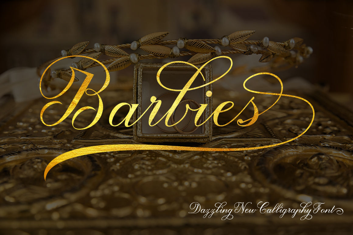 Barbies Script By Lucky Type Thehungryjpeg Com