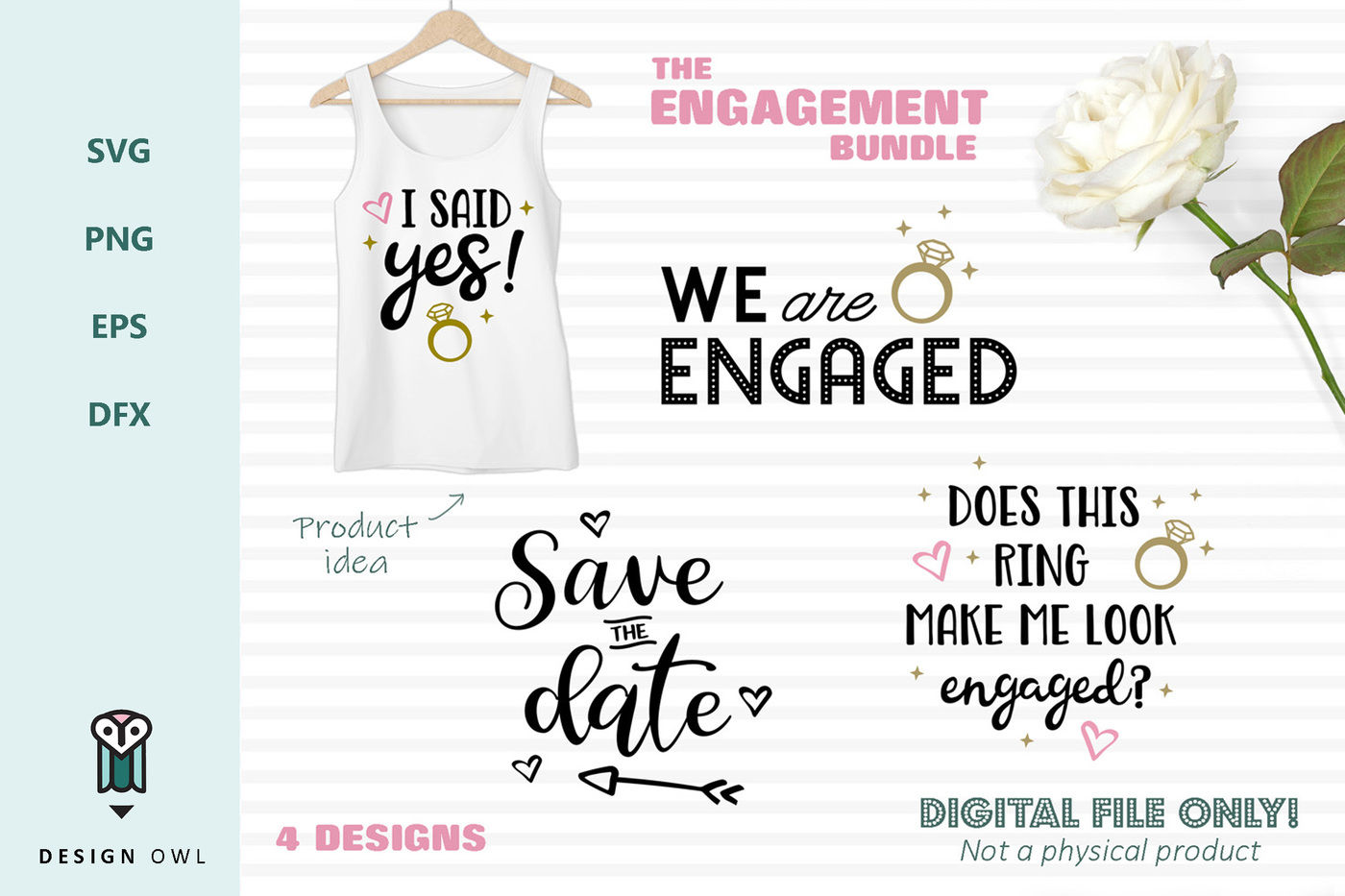 The Engagement Bundle Svg Files By Design Owl Thehungryjpeg Com