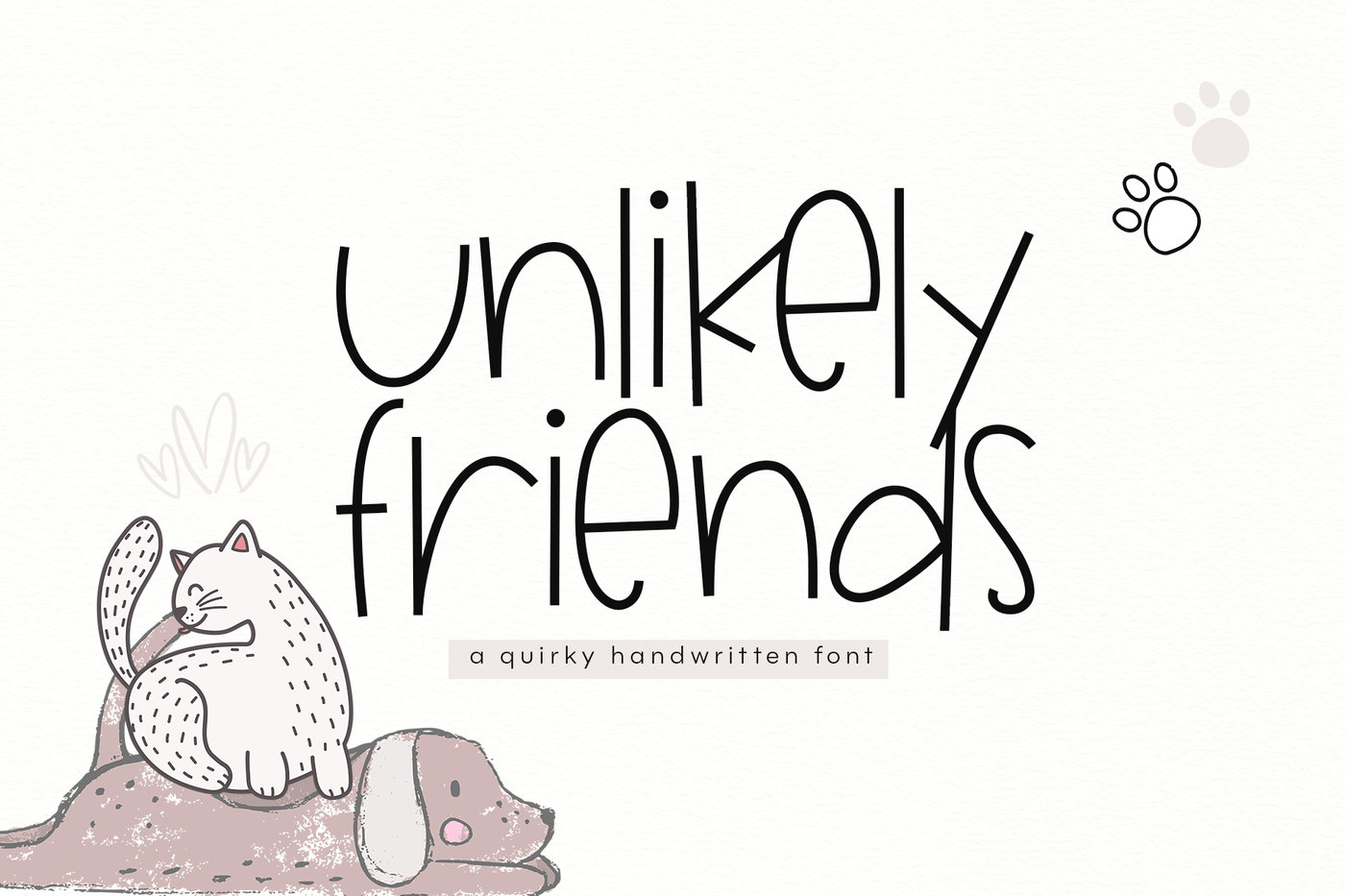 Unlikely Friends A Quirky Handwritten Font By Ka Designs