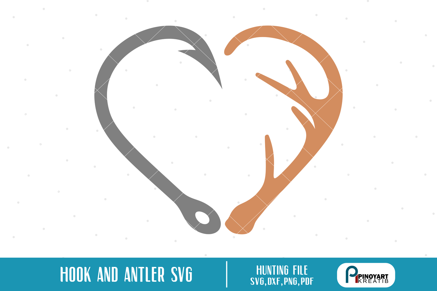 Hook And Antler Svg Hook Svg Antler Svg Deer Hunting Svg Deer