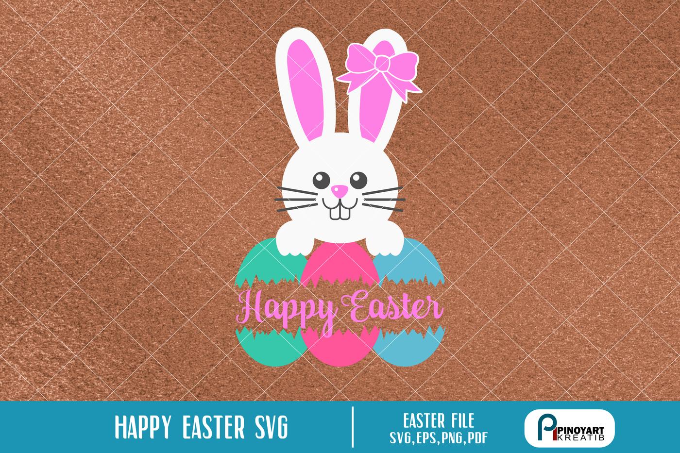 Happy Easter Svg Easter Svg Easter Egg Svg Easter Bunny Svg