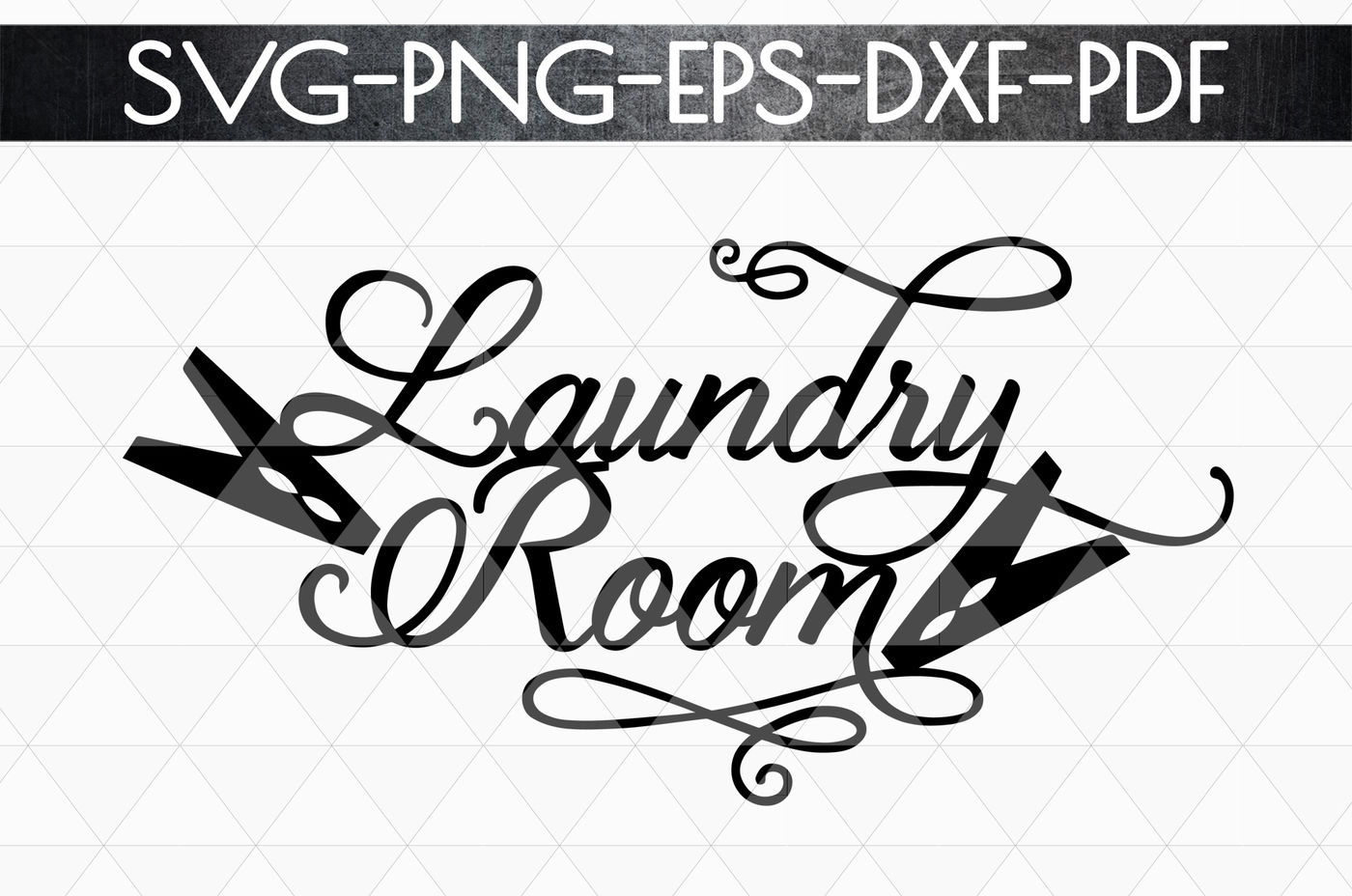 Download Laundry Room Sign Papercut Template, Home Decor SVG, DXF ...