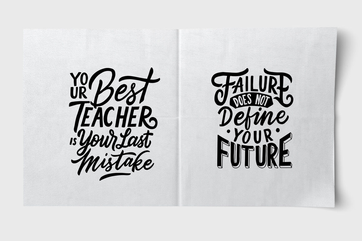 Svg Bundle Lettering Typography Quotes About Success By Weape