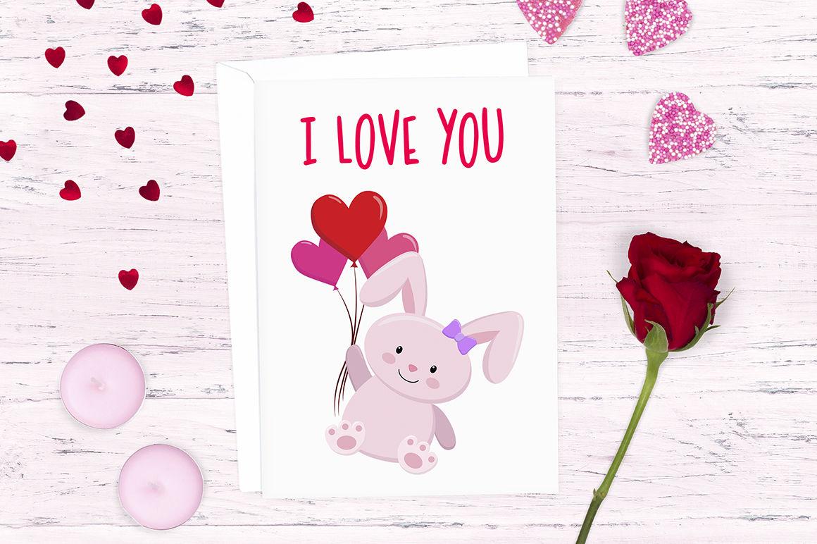 Cute Love Bunny Clipart Designs By Doodle Art Thehungryjpeg Com