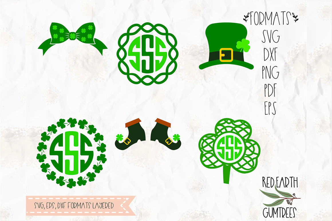2dbce37cf St Patricks day monogram frames bundle in SVG,DXF,PNG,EPS,PDF ...