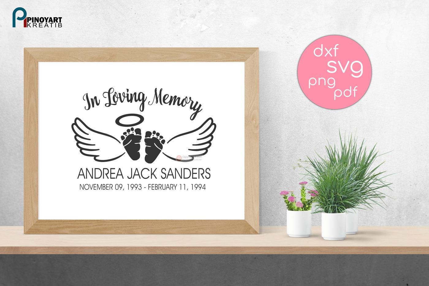 In Loving Memory Svg Baby Angel Svg Baby Memorial Svg Baby Svg