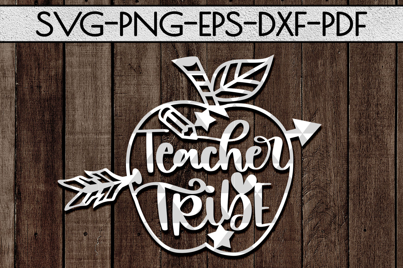 Teacher Tribe Papercut Template Teacher Appreciation Svg Dxf