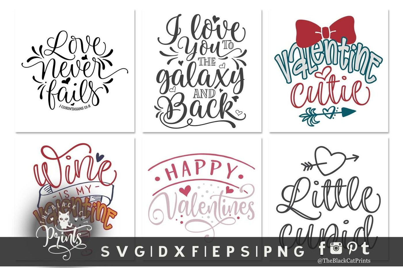 Valentines Bundle Svg Dxf Eps Png By Theblackcatprints