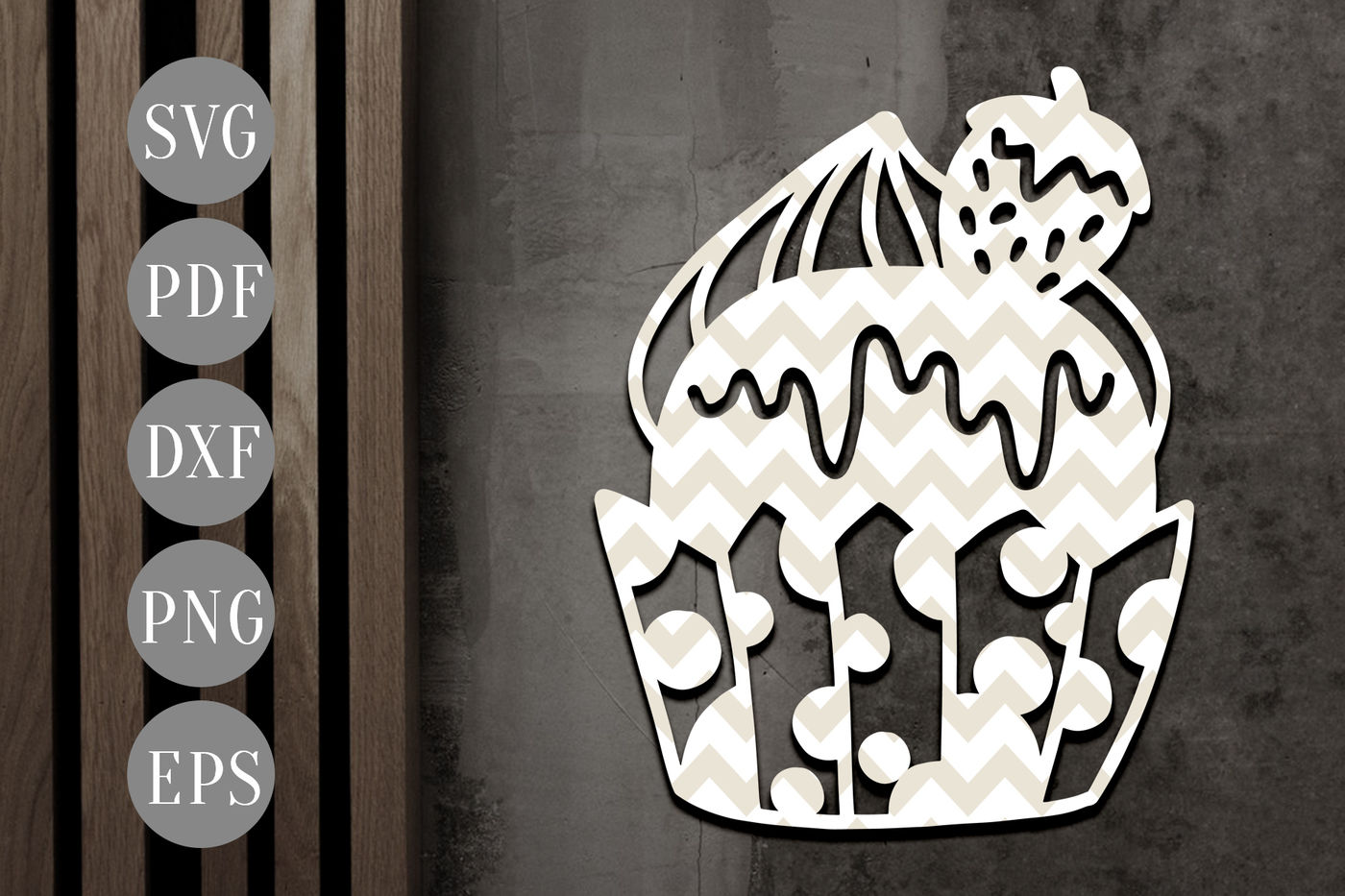 Papercut Template /'Bake/' Kitchen Wall Art PDF JPEG for handcut /& SVG for Cutting Machines