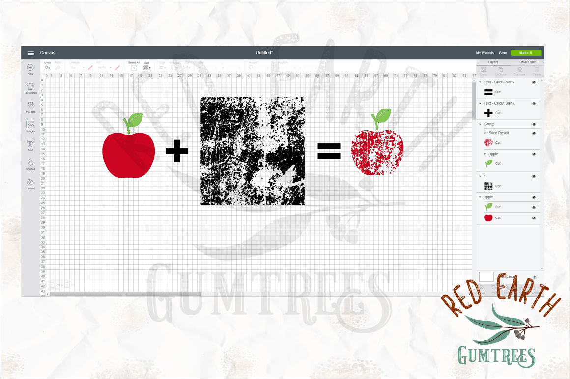 Grunge Template Svg For Cricut Design Space With Instructions By