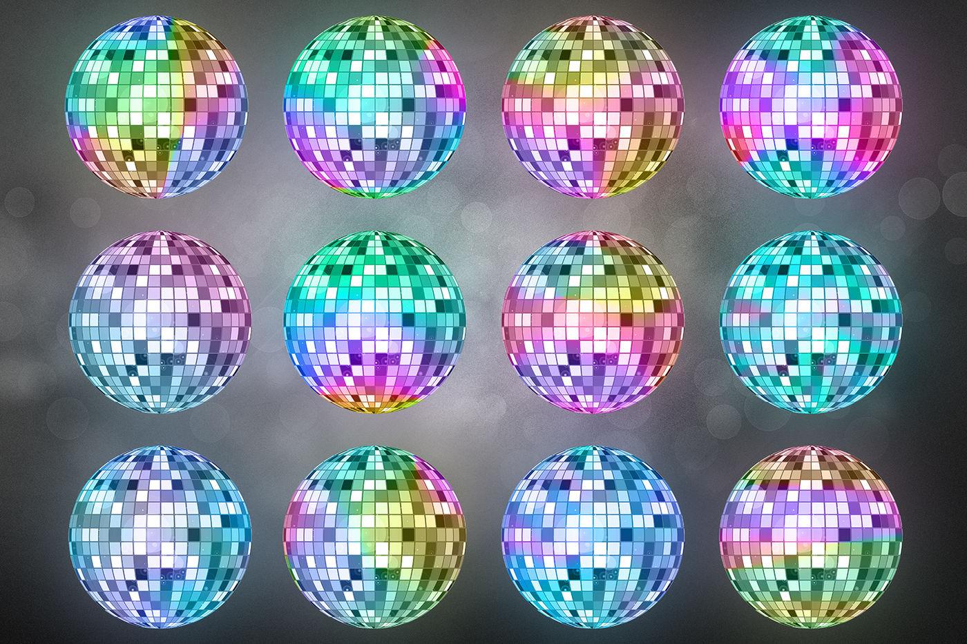 Disco Lights Clipart Unicorn Party By North Sea Studio