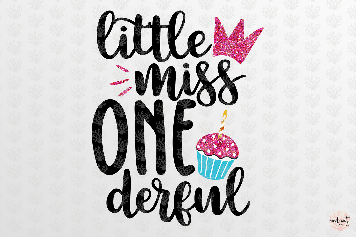 Little Miss Onederful Birthday Svg Eps Dxf Png By Coralcuts Thehungryjpeg Com