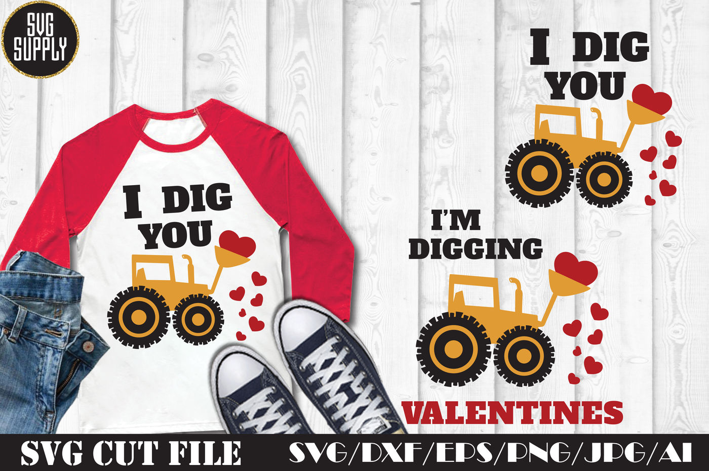 Valentines Day Tractor Truck Svg Cut File By Svgsupply Thehungryjpeg Com