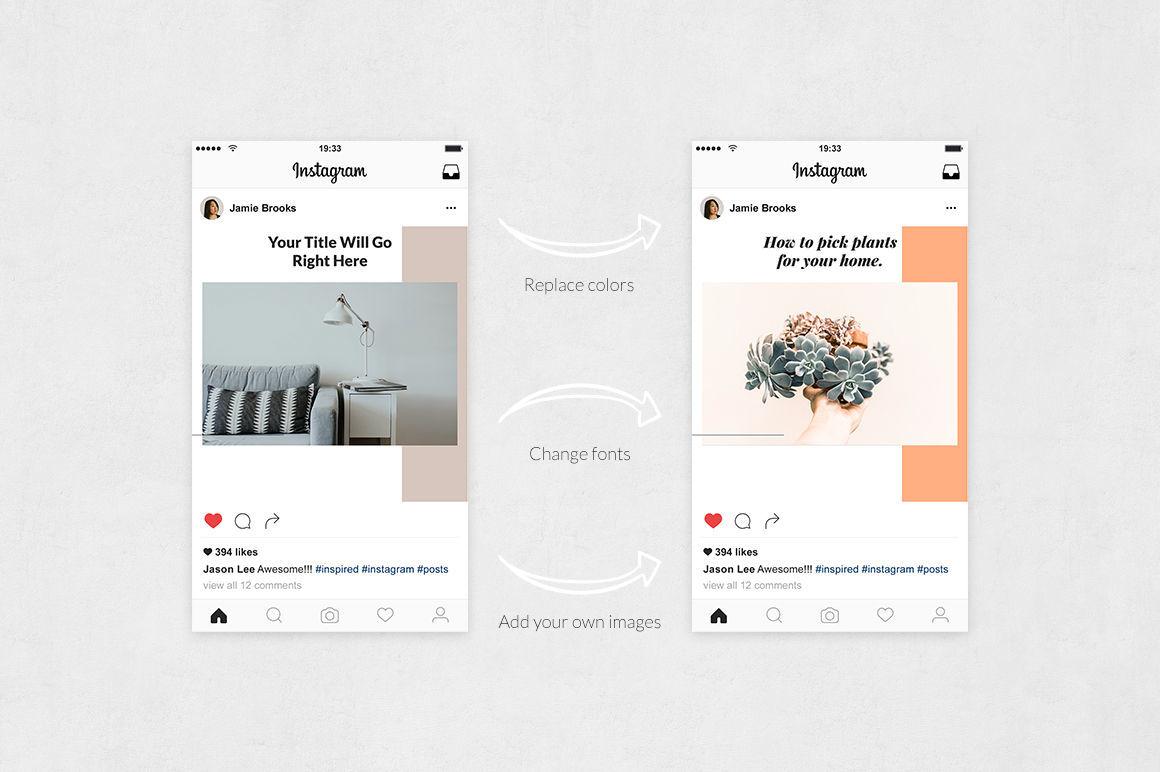 Home Decoration Instagram Posts By Social Corner Graphics