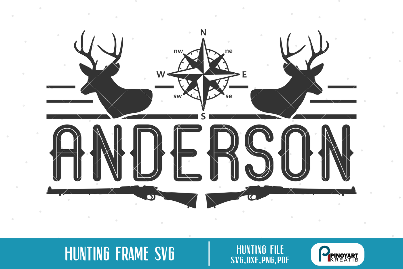 Hunting Split Frame Svg Hunting Svg Deer Hunting Svg Split