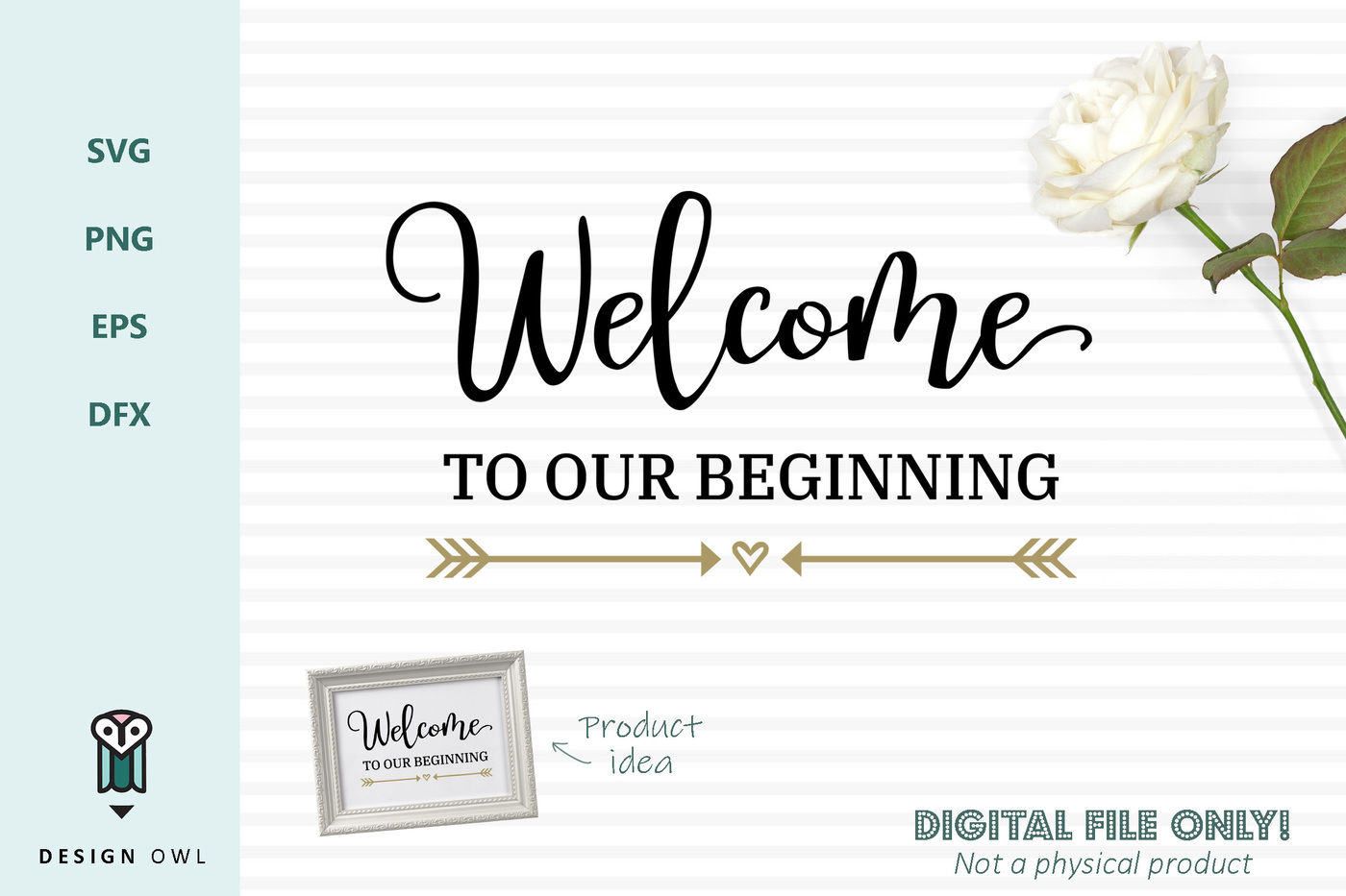 Welcome To Our Beginning Svg File By Design Owl Thehungryjpeg Com