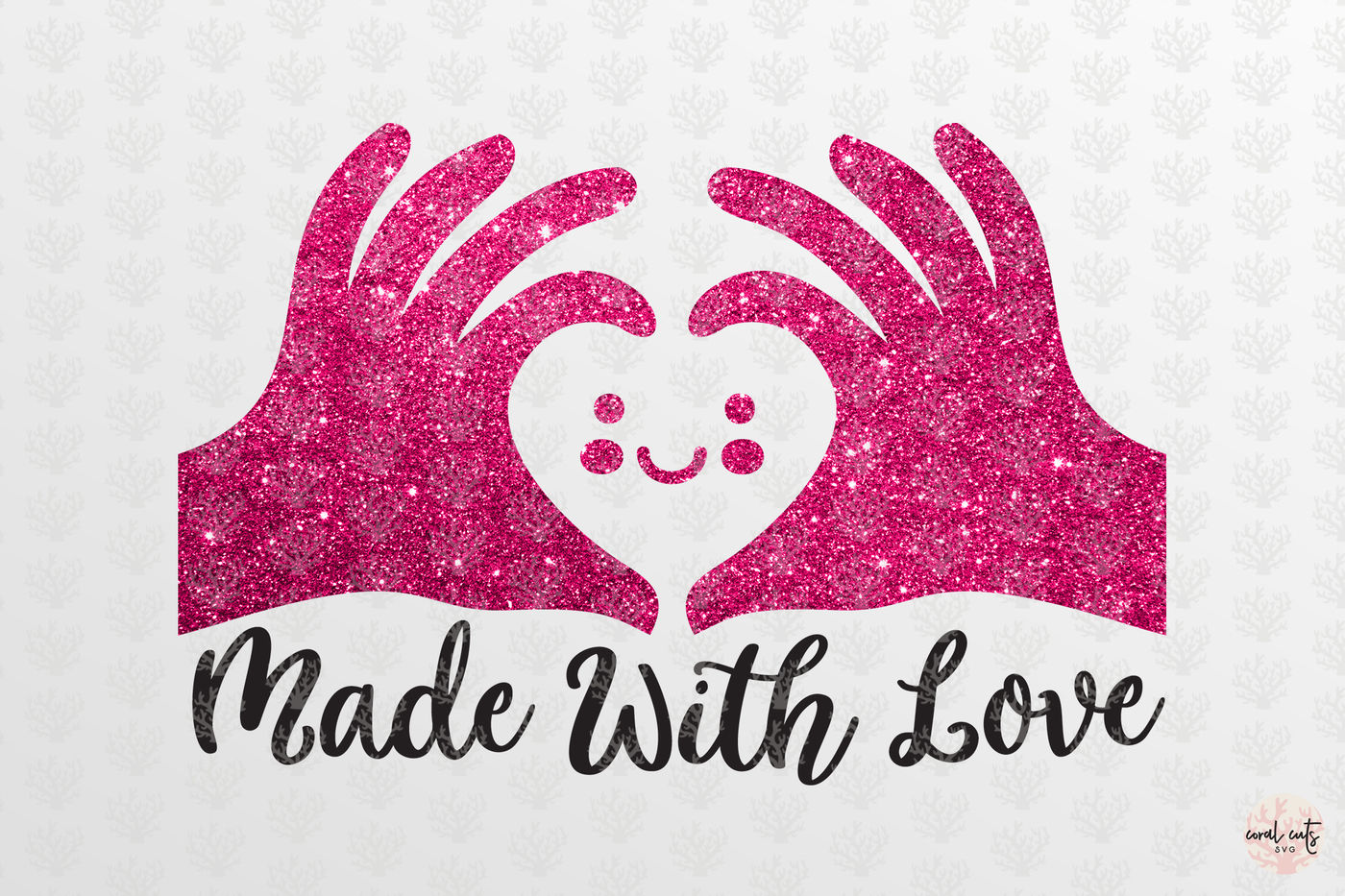 Made With Love Love Svg Eps Dxf Png By Coralcuts Thehungryjpeg Com