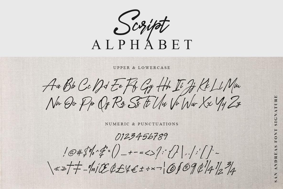 San Andreas Signature Font By I Do Not Sleep Thehungryjpeg Com