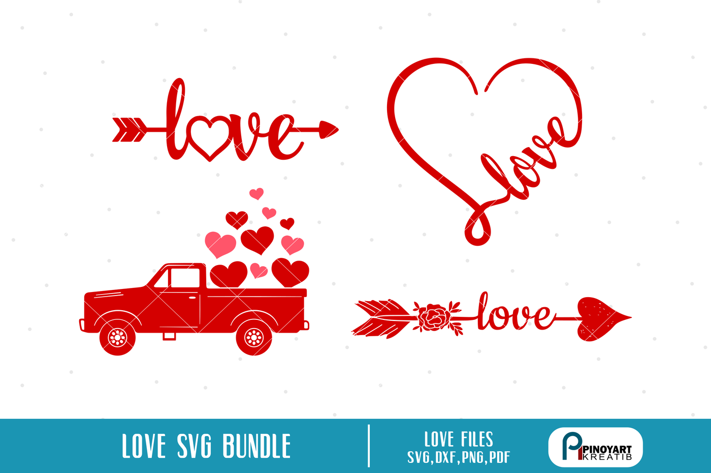 Love Svg Bundle Love Heart Svg Love Arrow Svg Valentines Svg