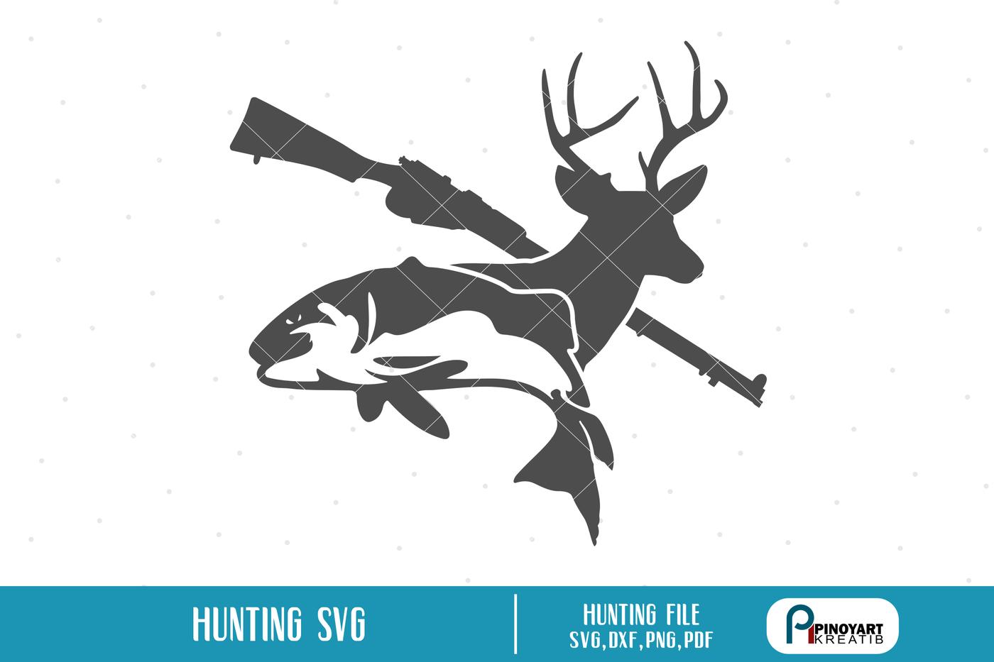 Download Hunting Svg Deer Svg Fishing Svg Rifle Svg Fish Svg Svg Files Svg By Pinoyart Thehungryjpeg Com