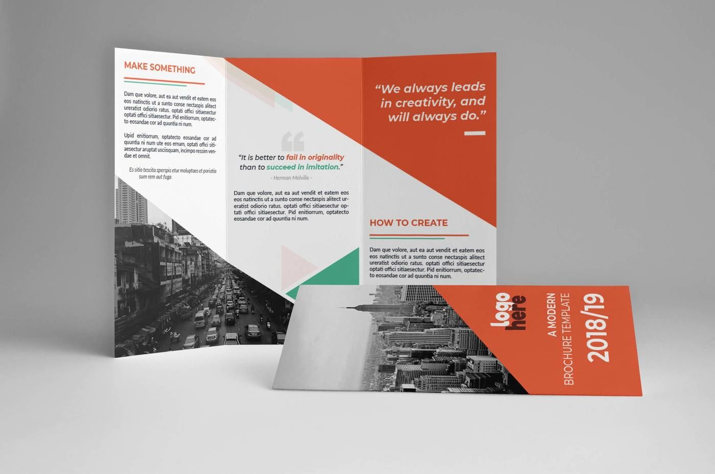 Modern Trifold Brochure By Assaiv | TheHungryJPEG com