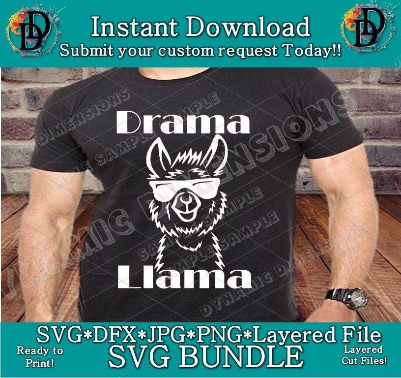 dbe6e611a Funny Llama SVG Drama Llama SVG Tee T-Shirt Women Ladies Men Funny ...