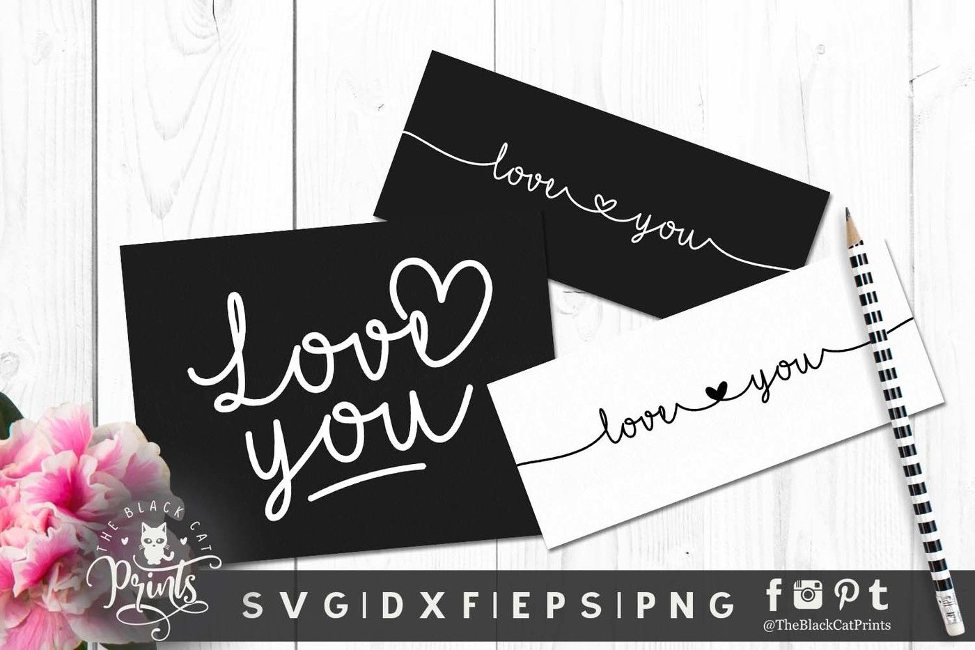 Mini Valentines Bundle Svg Dxf Eps By Theblackcatprints