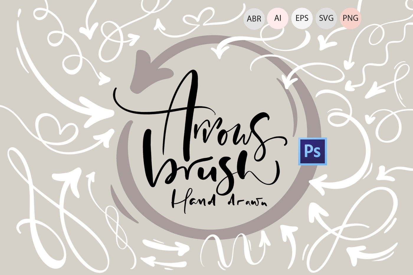 Hand Drawn Arrows Brush By Happy Letters Thehungryjpeg Com