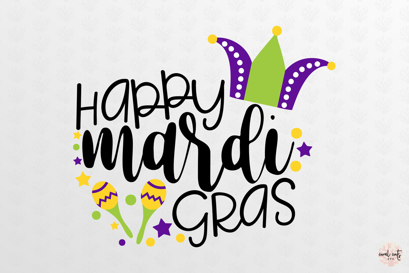 Happy Mardi Gras Mardi Gras Svg Eps Dxf Png By Coralcuts