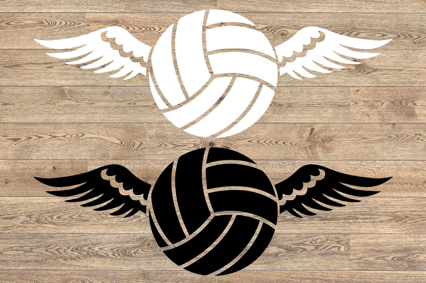 Volleyball Wings Svg Valentine S Day Angel Feathers 1197s By